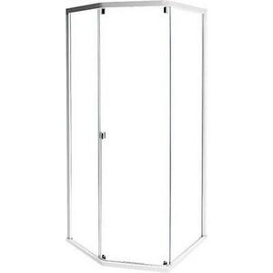 Передняя стенки и дверь IDO Showerama 8-5 100x100 см, профиль белый, прозрачное (4985122015) поло синее с принтом ido ут 00004176