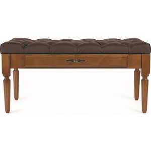 Банкетка Мебелик Оливия эко-кожа коричневый/темно-коричневый цены онлайн