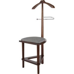 мебелик костюмная вешалка галант 332 алюминий средне коричневый Вешалка костюмная Мебелик В 26Н средне-коричневый с сиденьем