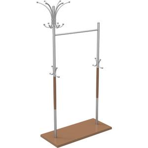 Вешалка напольная Мебелик Д 7 металлик/ средне-коричневый вешалка напольная мебелик в 10н средне коричневый
