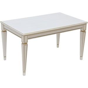 Стол журнальный Мебелик Васко В 81 белый ясень/золото стол журнальный мебелик васко в 81 темно коричневый