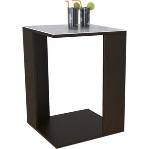 Стол журнальный Мебелик BeautyStyle 14 венге/стекло белое
