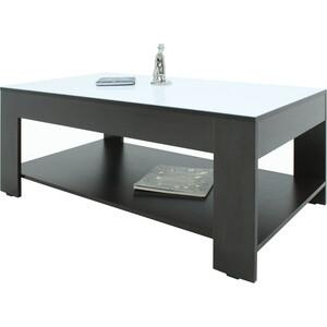 Стол журнальный Мебелик BeautyStyle 26 венге/стекло белое раздвижной большой стеклянный обеденный стол кубика нагано 2 стекло стекло темно коричневое венге