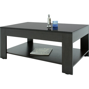 Стол журнальный Мебелик BeautyStyle 26 венге/стекло черное раздвижной большой стеклянный обеденный стол кубика нагано 2 стекло стекло темно коричневое венге