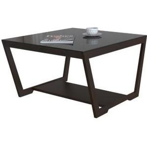 Стол журнальный Мебелик BeautyStyle 1 венге/стекло черное раздвижной большой стеклянный обеденный стол кубика нагано 2 стекло стекло темно коричневое венге