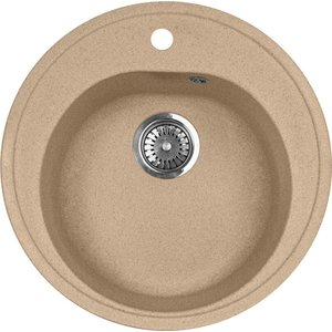 Мойка кухонная AquaGranitEx M-08 505х505 песочный (M-08 302) cottelli m
