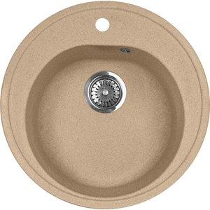 цена Мойка кухонная AquaGranitEx M-08 505х505 песочный (M-08 302)