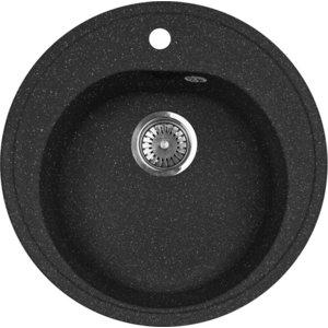 Мойка кухонная AquaGranitEx M-08 505х505 черный (M-08 308) цена и фото