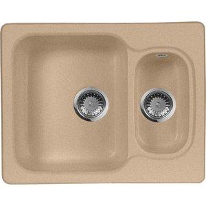 Мойка кухонная AquaGranitEx M-09 610х495 песочный (M-09 302) мойка кухонная aquagranitex m 17 430х500 песочный m 17 302