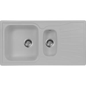 Мойка кухонная AquaGranitEx M-09K 940х495 серый (M-09K 310) цена 2017