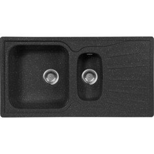 Мойка кухонная AquaGranitEx M-09K 940х495 черный (M-09K 308) sturman f36050 m
