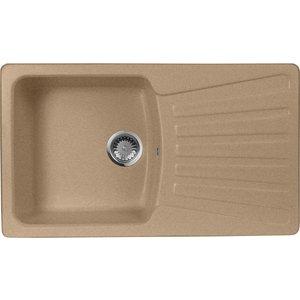 Мойка кухонная AquaGranitEx M-12 840х490 песочный (M-12 302) мойка кухонная aquagranitex m 17 430х500 песочный m 17 302