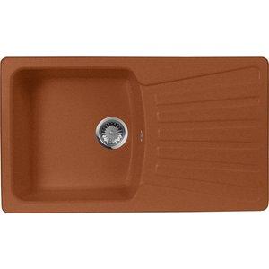 Мойка кухонная AquaGranitEx M-12 840х490 терракот (M-12 307) кухонная мойка ukinox fad 490 gt6k 0c
