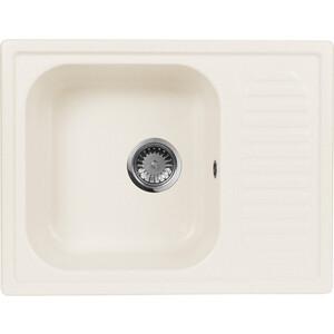 Мойка кухонная AquaGranitEx M-13 645х495 белый (M-13 331) aquagranitex 13 white