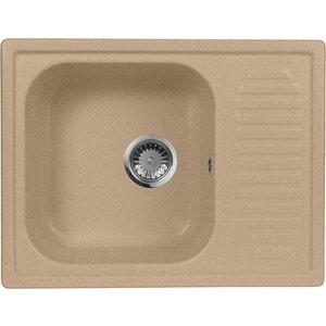 Мойка кухонная AquaGranitEx M-13 645х495 песочный (M-13 302) aquagranitex 13 white