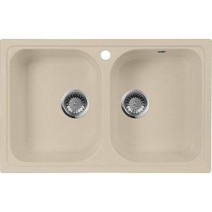 Мойка кухонная AquaGranitEx M-15 775х495 бежевый (M-15 328) cottelli m