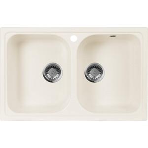 Мойка кухонная AquaGranitEx M-15 775х495 белый (M-15 331) cottelli m