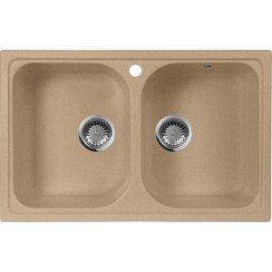 Мойка кухонная AquaGranitEx M-15 775х495 песочный (M-15 302) мойка кухонная aquagranitex m 17 430х500 песочный m 17 302