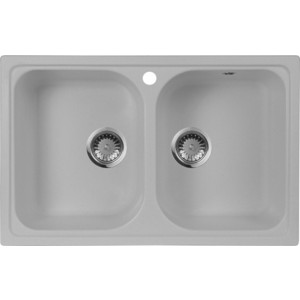 Мойка кухонная AquaGranitEx M-15 775х495 серый (M-15 310) сотовый телефон vertex c305 black