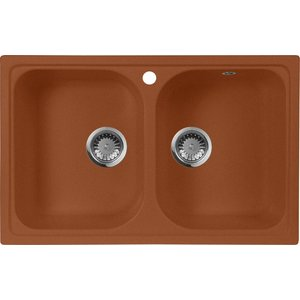 Мойка кухонная AquaGranitEx M-15 775х495 терракот (M-15 307) sturman f36050 m