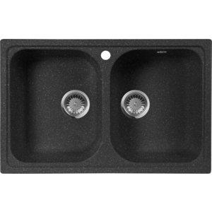Мойка кухонная AquaGranitEx M-15 775х495 черный (M-15 308) kaweida черный m