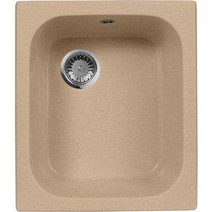 Мойка кухонная AquaGranitEx M-17 420х485 песочный (M-17 302) кухонная мойка aquagranitex m 17 420х485 светло розовый m 17 311