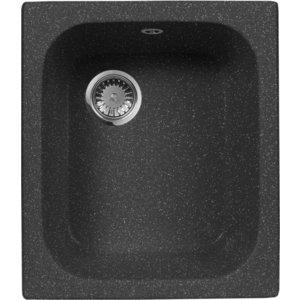 Мойка кухонная AquaGranitEx M-17 420х485 черный (M-17 308) кухонная мойка aquagranitex m 17 420х485 светло розовый m 17 311