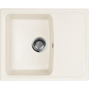 Мойка кухонная AquaGranitEx M-17K 600х490 белый (M-17K 331) мойка кухонная aquagranitex m 17 420х485 серый m 17 310