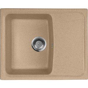 Мойка кухонная AquaGranitEx M-17K 600х490 песочный (M-17K 302) мойка кухонная aquagranitex m 17 430х500 песочный m 17 302
