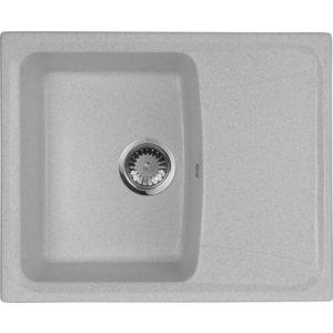 Мойка кухонная AquaGranitEx M-17K 600х490 серый (M-17K 310) мойка кухонная aquagranitex m 17 420х485 серый m 17 310