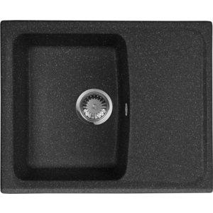 Мойка кухонная AquaGranitEx M-17K 600х490 черный (M-17K 308) цена и фото