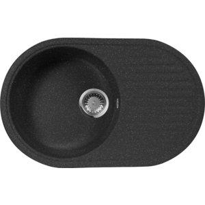 Мойка кухонная AquaGranitEx M-18 730х460 черный (M-18 308) цена и фото