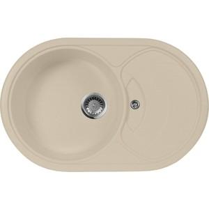 Мойка кухонная AquaGranitEx M-18S 780х500 бежевый (M-18S 328) кольца proms от 18s с позолоченными кольцами из 18s с бриллиантами