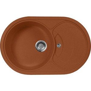 Мойка кухонная AquaGranitEx M-18S 780х500 терракот (M-18S 307) aurelli 15w003 18s nero