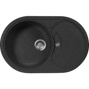 Мойка кухонная AquaGranitEx M-18S 780х500 черный (M-18S 308) кольца proms от 18s с позолоченными кольцами из 18s с бриллиантами
