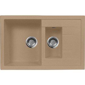 Мойка кухонная AquaGranitEx M-21K 780х500 песочный (M-21K 302) cottelli m