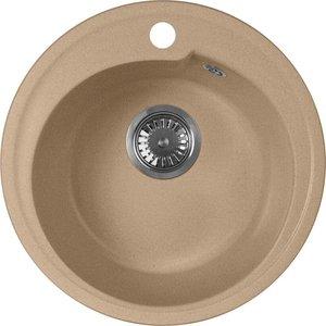 Мойка кухонная AquaGranitEx M-45 440х440 песочный (M-45 302) мойка кухонная aquagranitex m 17 430х500 песочный m 17 302