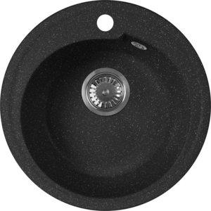 Мойка кухонная AquaGranitEx M-45 440х440 черный (M-45 308) цена и фото