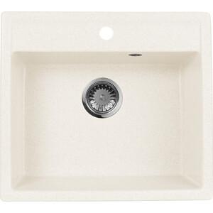 Мойка кухонная AquaGranitEx M-56 560х500 белый (M-56 331) sw5084a qfn 56