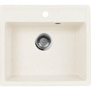 Мойка кухонная AquaGranitEx M-56 560х500 белый (M-56 331) zhengbao белый m