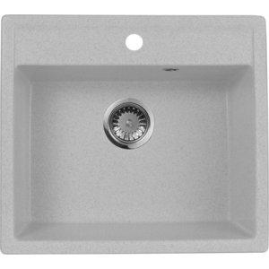 Мойка кухонная AquaGranitEx M-56 560х500 серый (M-56 310) мойка кухонная aquagranitex m 17 420х485 серый m 17 310