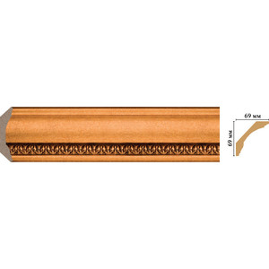Плинтус Decomaster Эрмитаж цвет 1223 69х69х2400 мм (100C-1223) decomaster багет decomaster 808 552 размер 61х26х2900мм