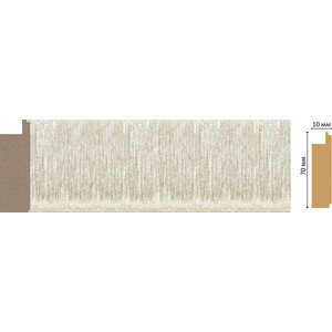 Молдинг Decomaster Перламутр цвет 18 70х10х2400 мм (108-18)