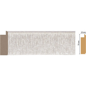 Молдинг Decomaster Перламутр цвет 19 70х10х2400 мм (108-19)