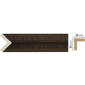 Угол Decomaster Темный шоколад цвет 1 30х30х2400 мм (116-1)