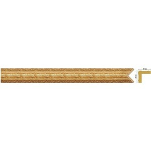 Угол Decomaster Золотой глянец цвет 126 30х30х2400 мм (116-126)