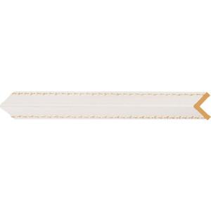 Угол Decomaster Белый с золотом цвет 54 30х30х2400 мм (116-54)