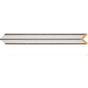 Угол Decomaster Серебристый металлик цвет 55 30х30х2400 мм (116-55)