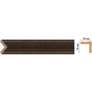 Угол Decomaster Ионика цвет 56 30х30х2400 мм (116-56) decomaster уголок decomaster 116 127 размер 30х30х2400