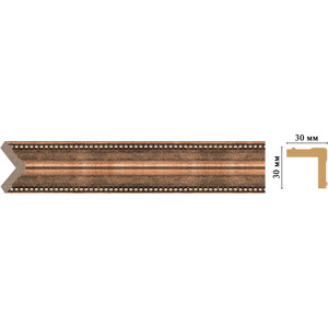 Угол Decomaster Ионика цвет 57 30х30х2400 мм (116-57) decomaster уголок decomaster 116 127 размер 30х30х2400